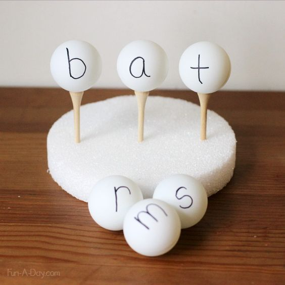 22 Teaching word families with ping pong balls