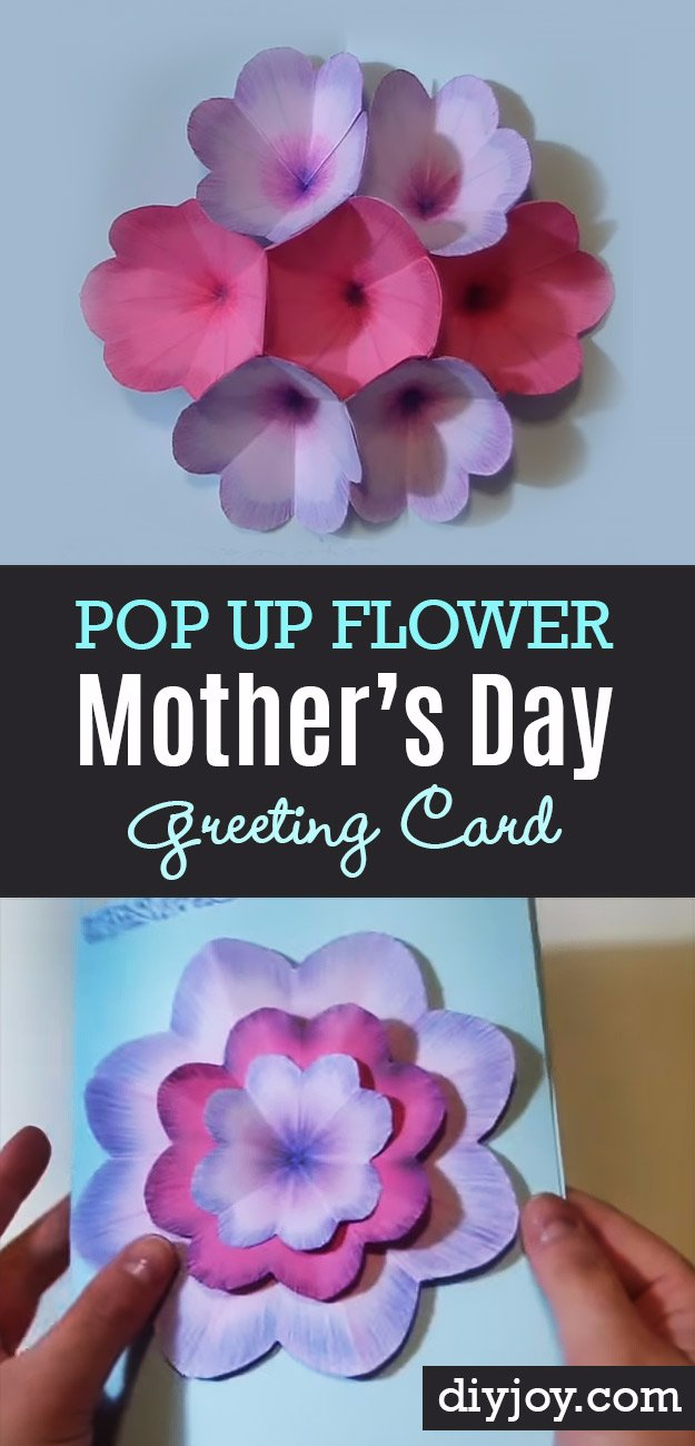 23 Creative DIY Mother's Day Card With Pop Up Flowers