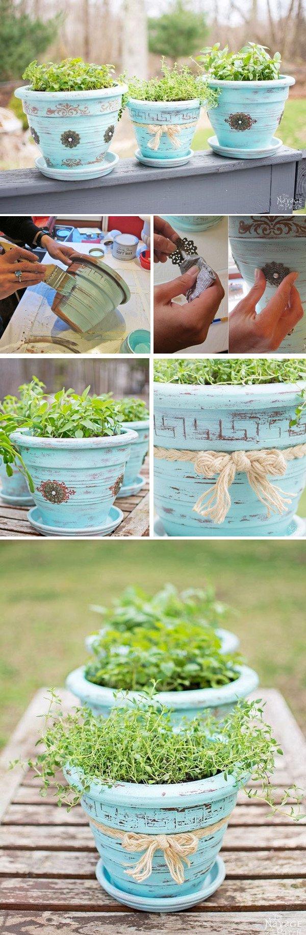 23 DIY Flower Pot Makeover
