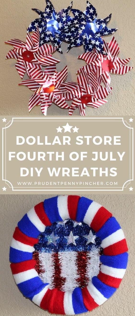 23 Dollar Store DIY 4th of July Wreaths