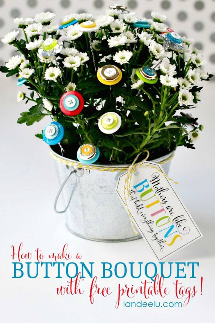 24 Create A Button Bouquet Mothers Day Gift