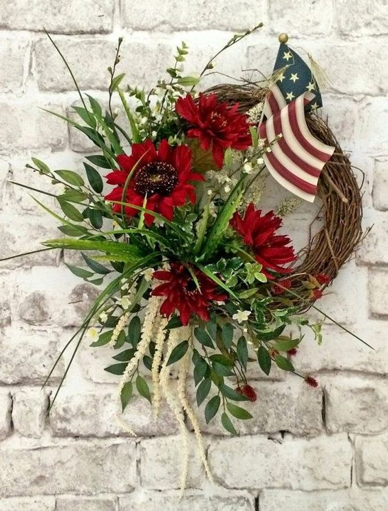 25 4th of July Wreath Patriotic Wreath