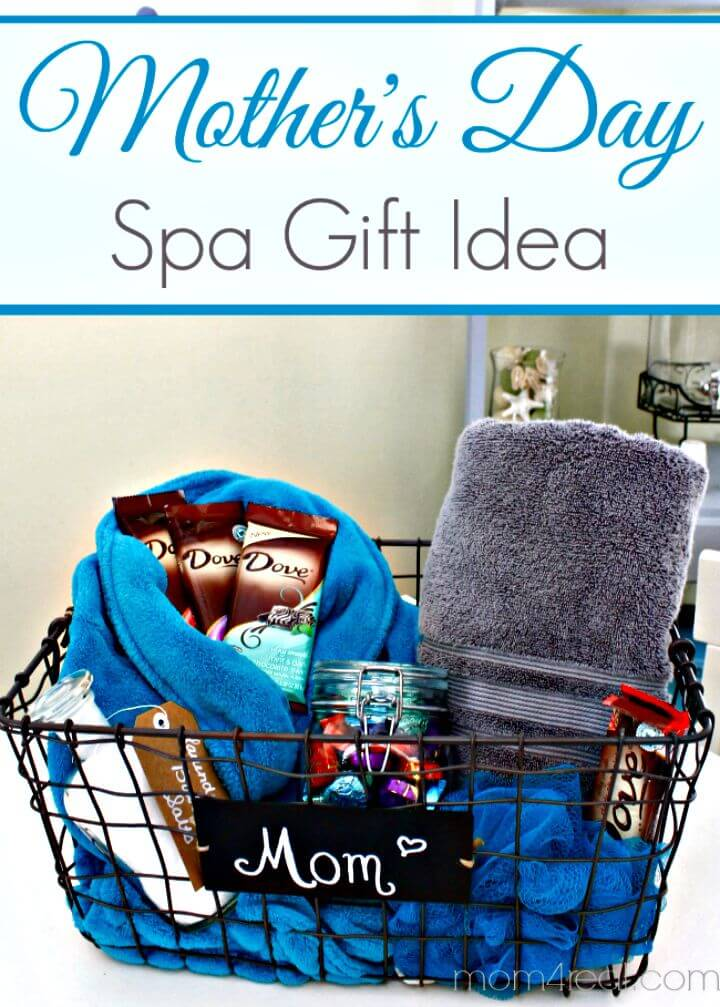 26 DIY Spa Basket Mothers Day Gift Idea