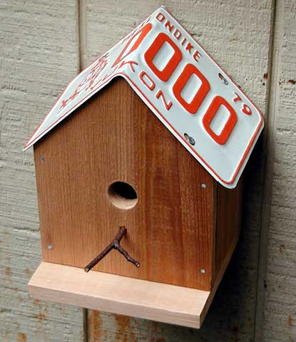 26 The License Plate Birdhouse
