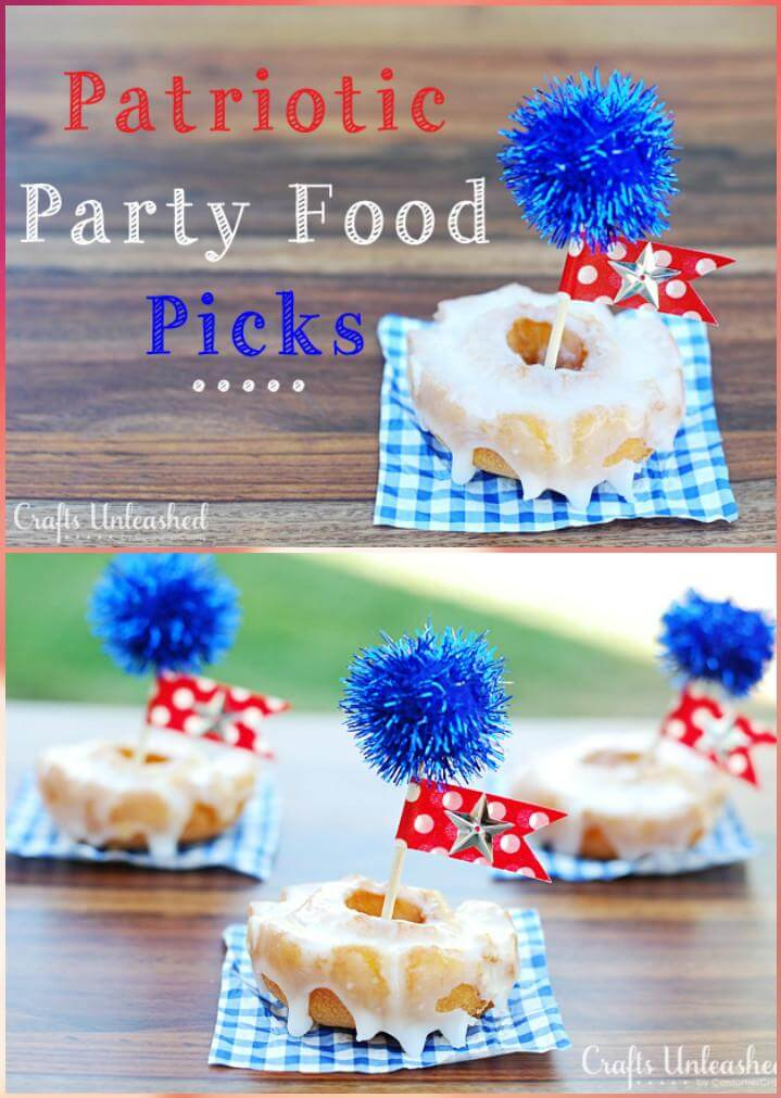 27 DIY Easy Patriotic Party Food Picks