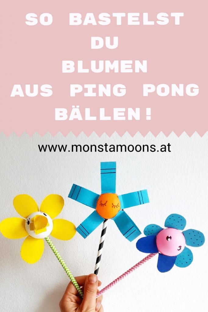 28 Coole Blumen aus Ping Pong Ballen basteln