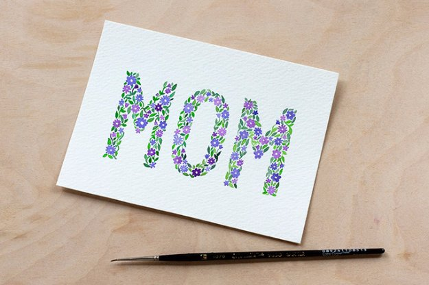 28 DIY Watercolor Mother's Day Card