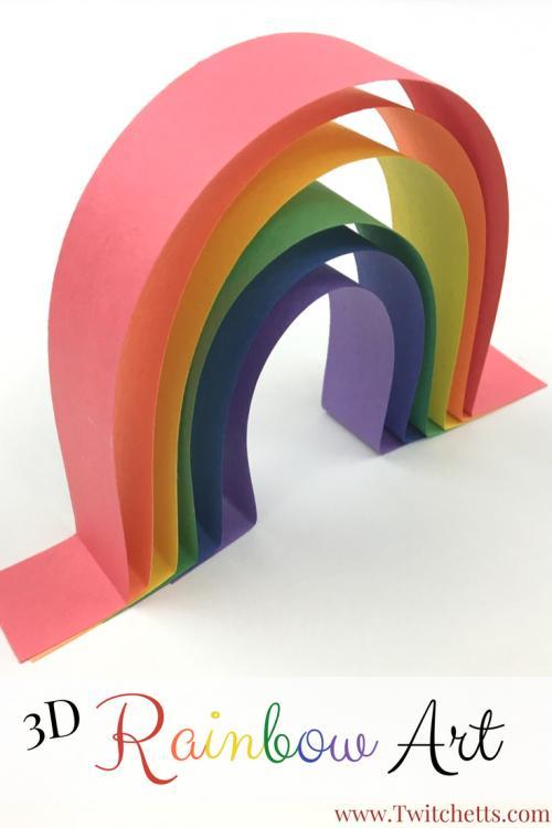 29 3D rainbow art
