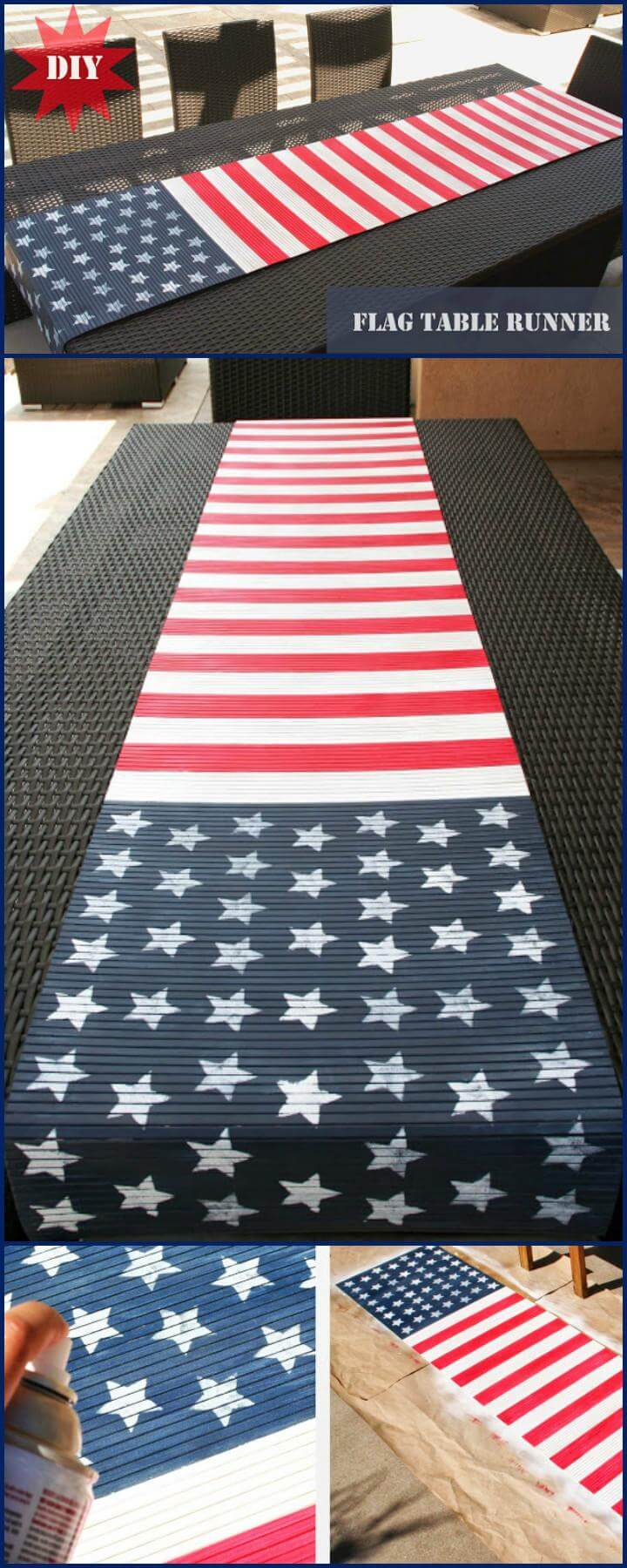 29 DIY American Flag Table Runner