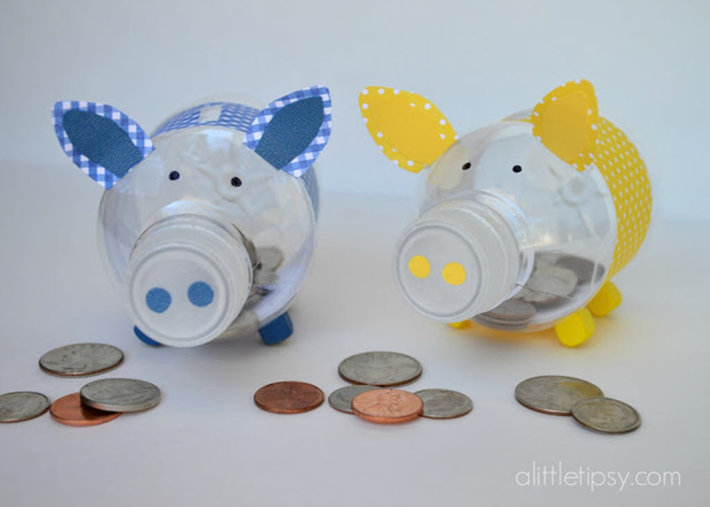 29 How to Create a Cute Piglet Piggy Bank With Reused Plastic Bottles