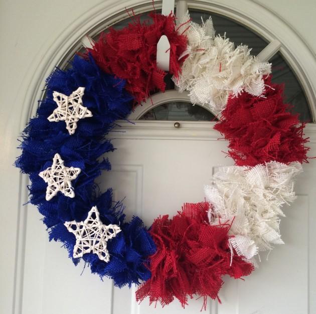 29 Patriotic Burlap Wreath