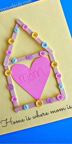 3 Popsicle Stick Mothers Day Craft