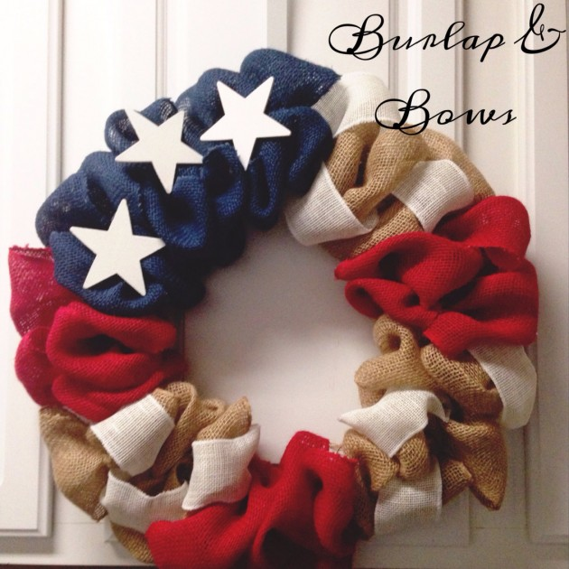30 4th of July wreath