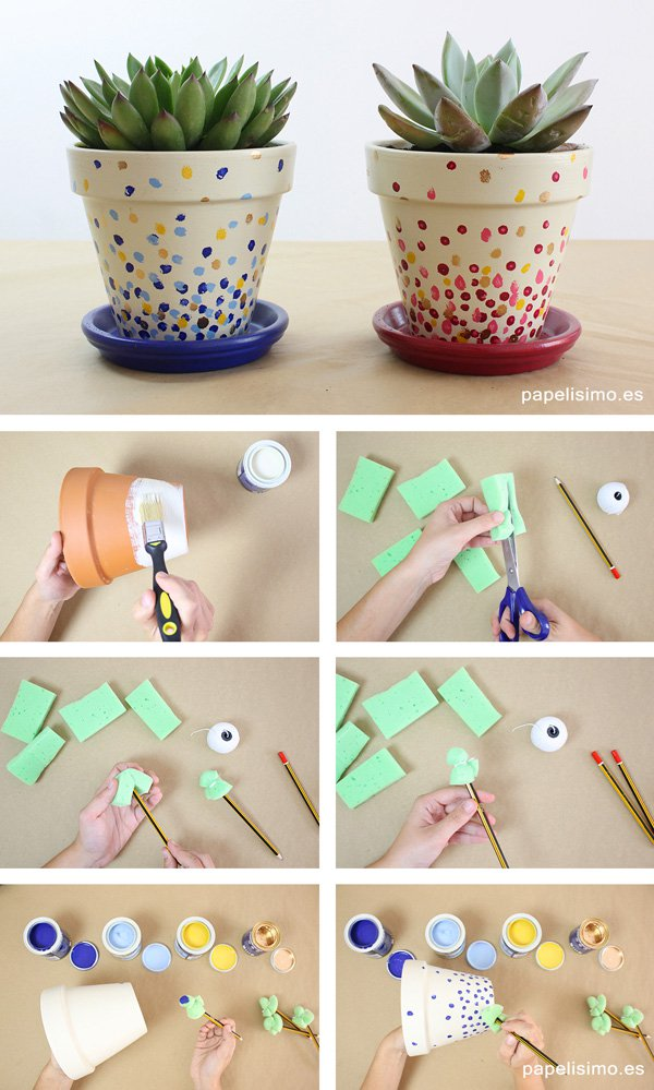 30 paint clay pots with speckles