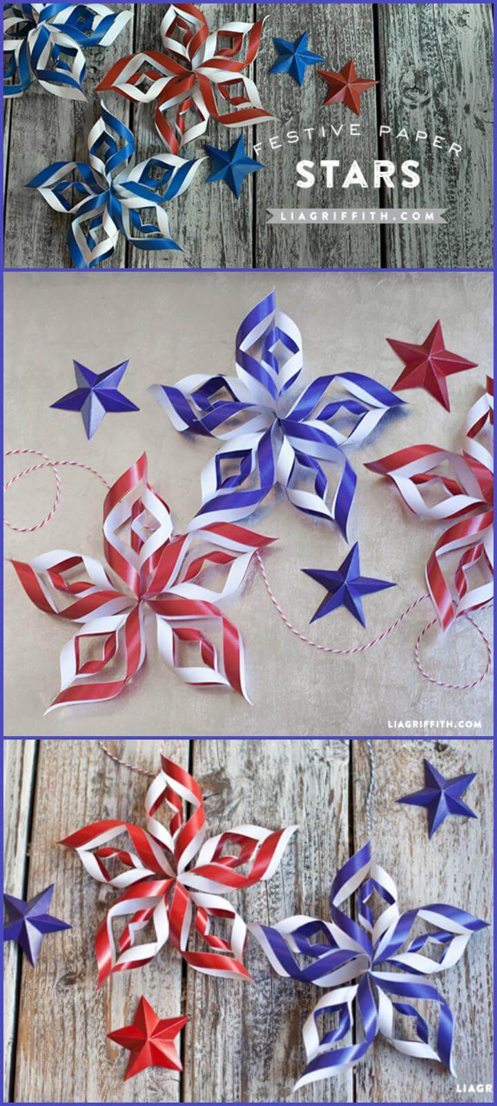 31 DIY Paper Stars for 4th July