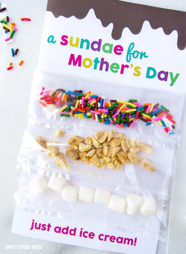 31 Sundae Card For Mother's Day