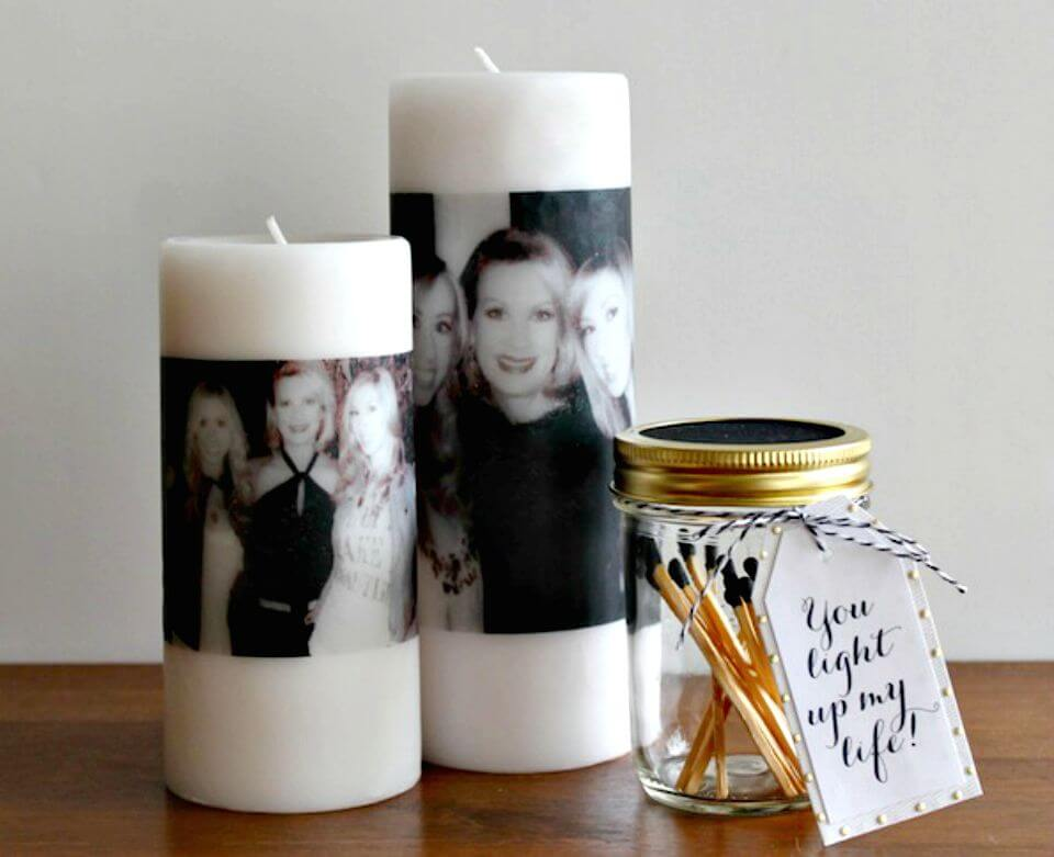 32 Awesome DIY Photo Candles