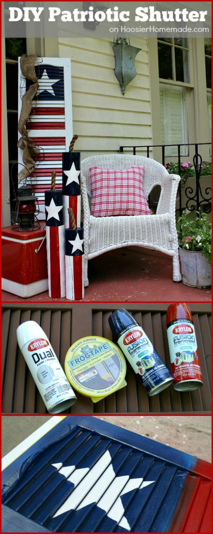 32 DIY 4th July Patriotic Shutter