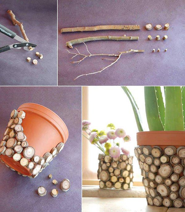 32 DIY Decorate flower pots