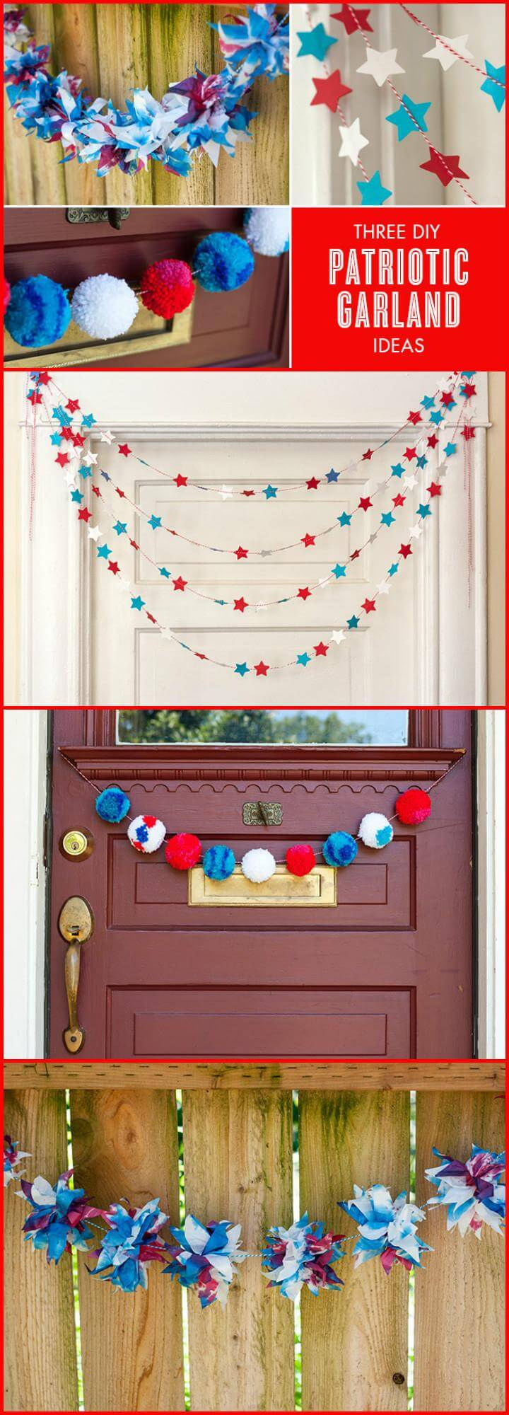 33 DIY 3 Patriotic Garlands