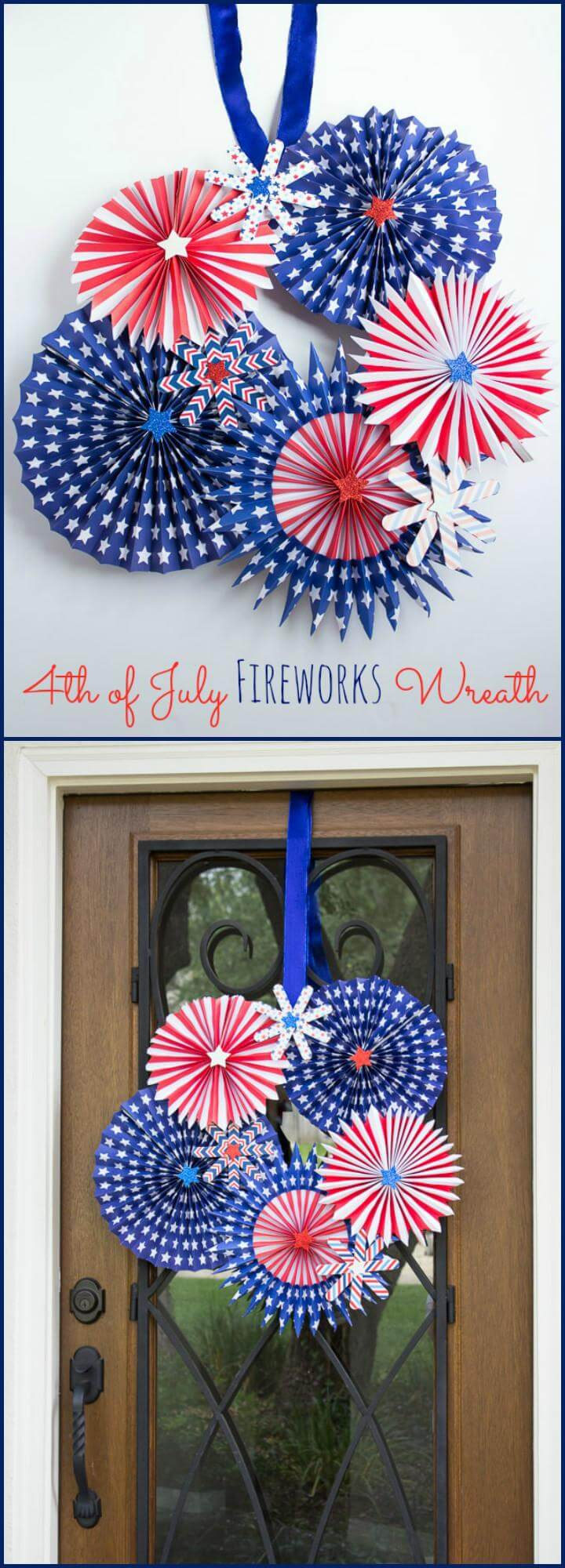 34 DIY 4th Of July Fireworks Wreath