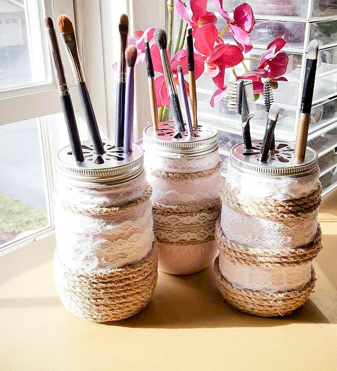 34 How To Easily Create Stunning Farmhouse Mason Jars