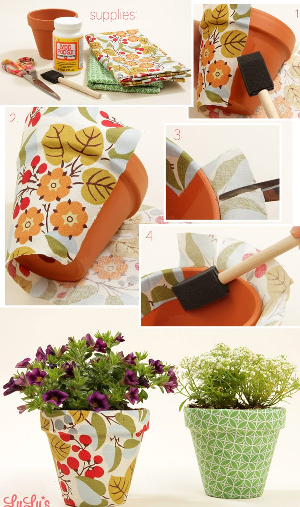 35 DIY Decorated Flower Pots