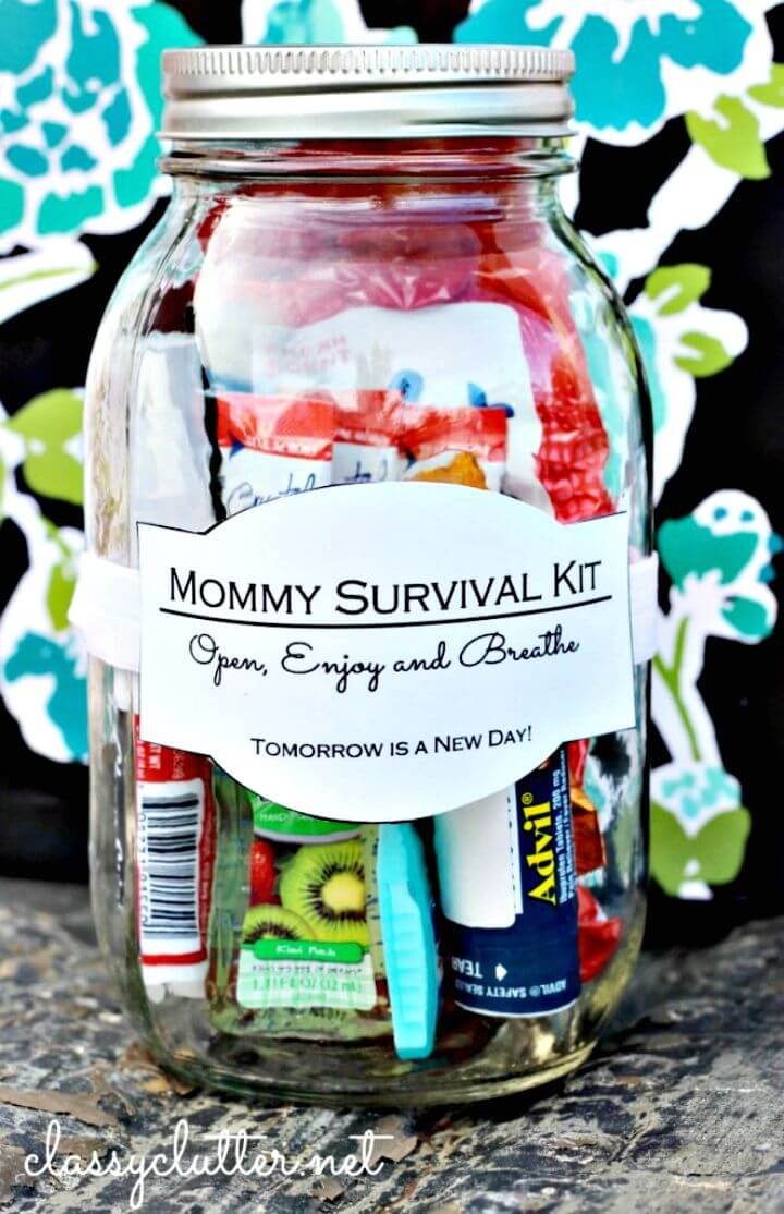 36 Build Mommy Survival Kit In A Jar