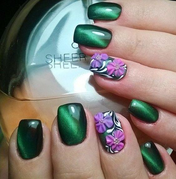 36 Emerald Green Nails