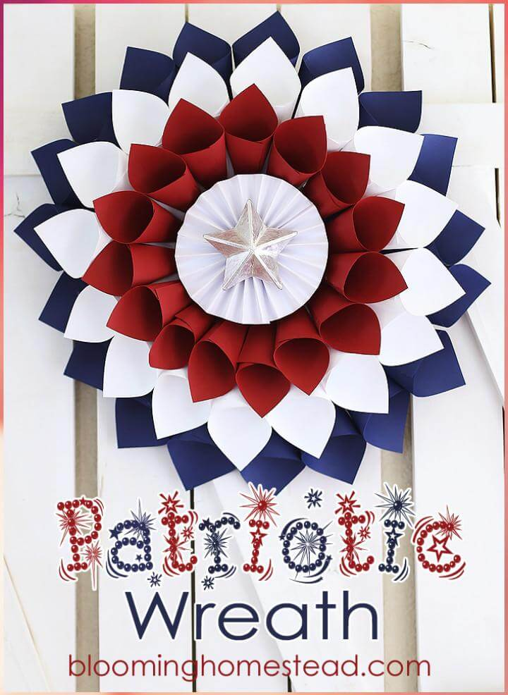 37 DIY Extra Beautiful Handmade Patriotic Wreath
