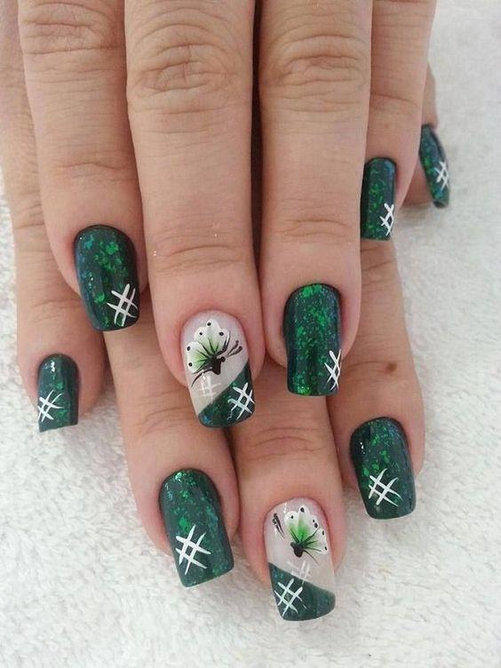 37 Emerald Green Nails