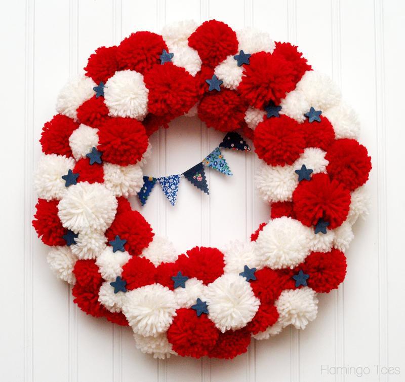 4 Pom Pom Wreath
