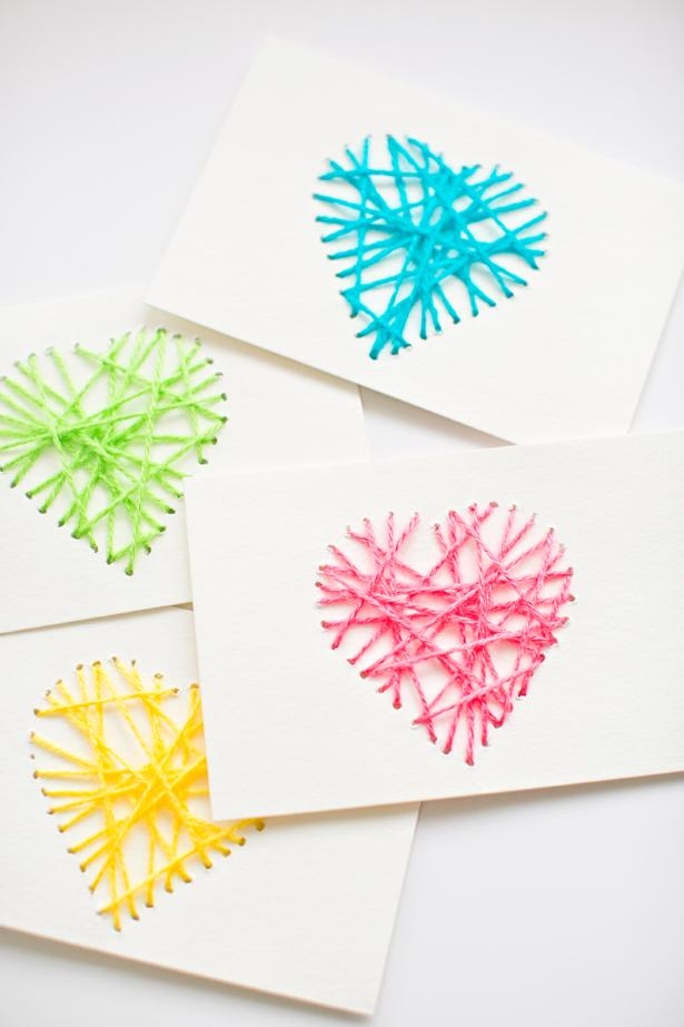 4 String heart cards