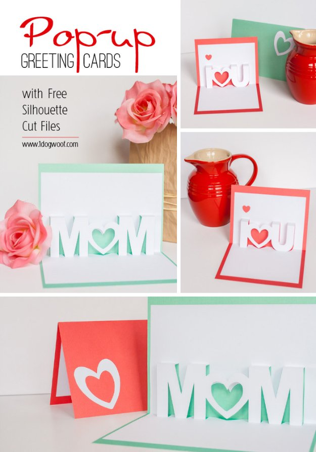 40 Mom I Love You Pop-Up Cards