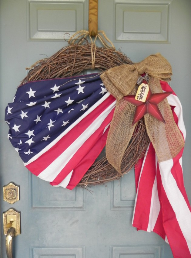 40 Patriotic Flag Wreath