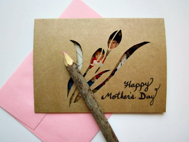 41 DIY Mother's Day Cut-Out Card