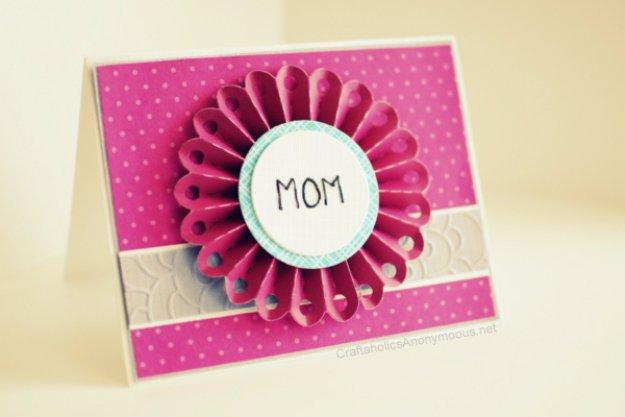 43 Embossed Flower Card For Mom