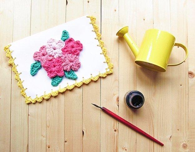 44 Flower Crochet Card