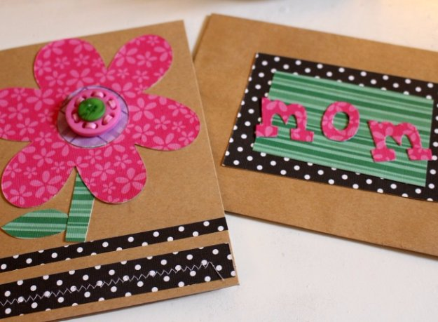 46 DIY Mother's Day Card With Buttons