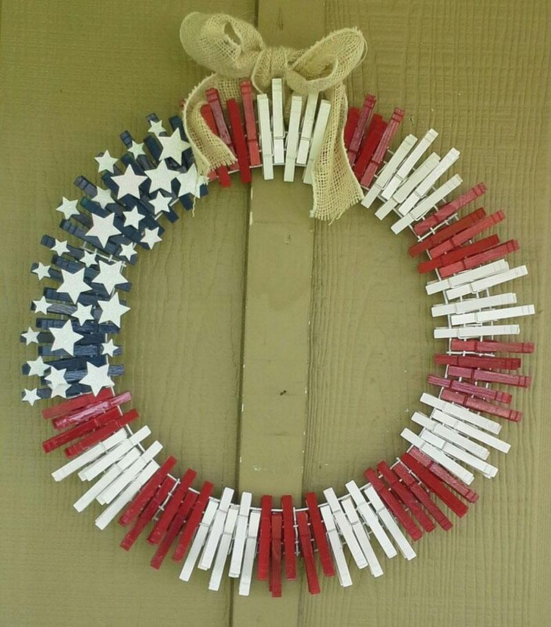 46 DIY Patriotic Wreaths