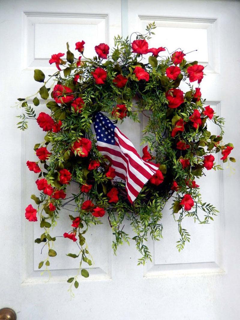 47 DIY Patriotic Wreaths