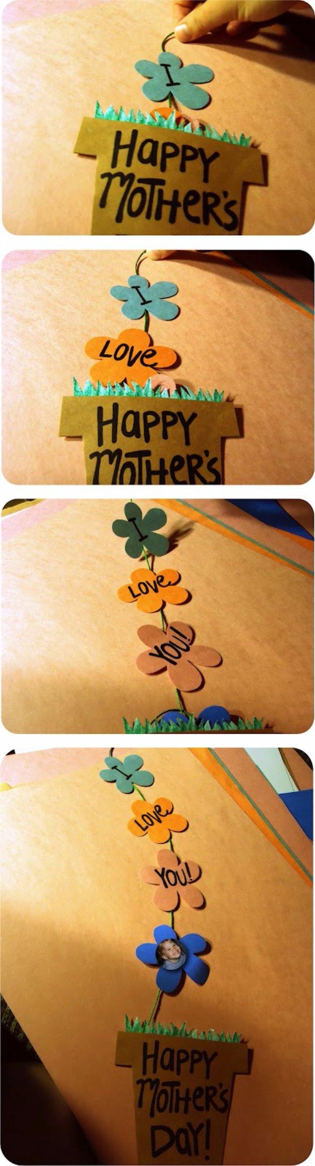 48 DIY Mother's Day Flower Pot Card