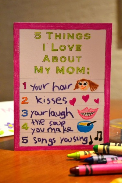 49 Things I love about mom Card