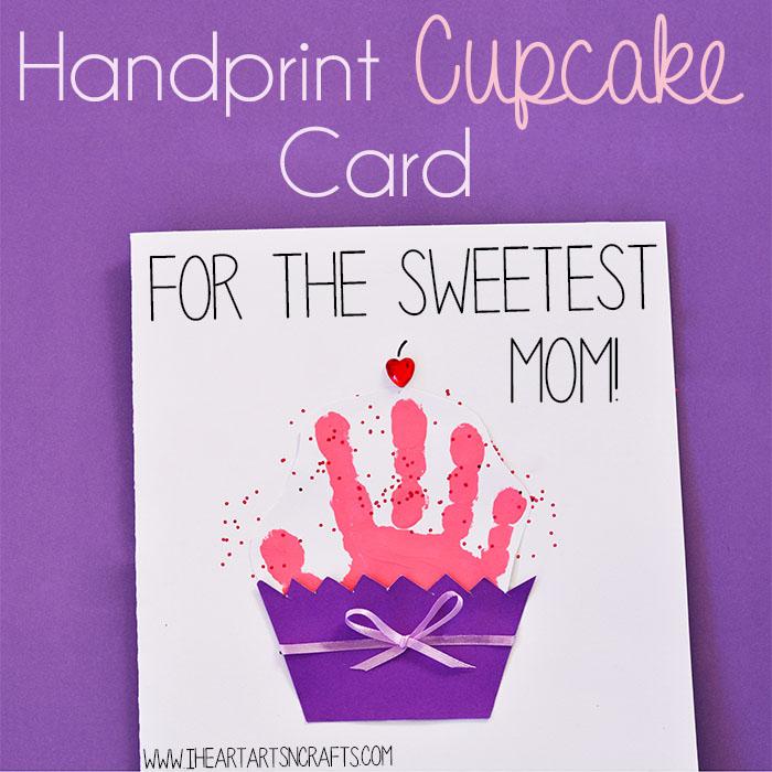 5 Handprint Cupcake Card