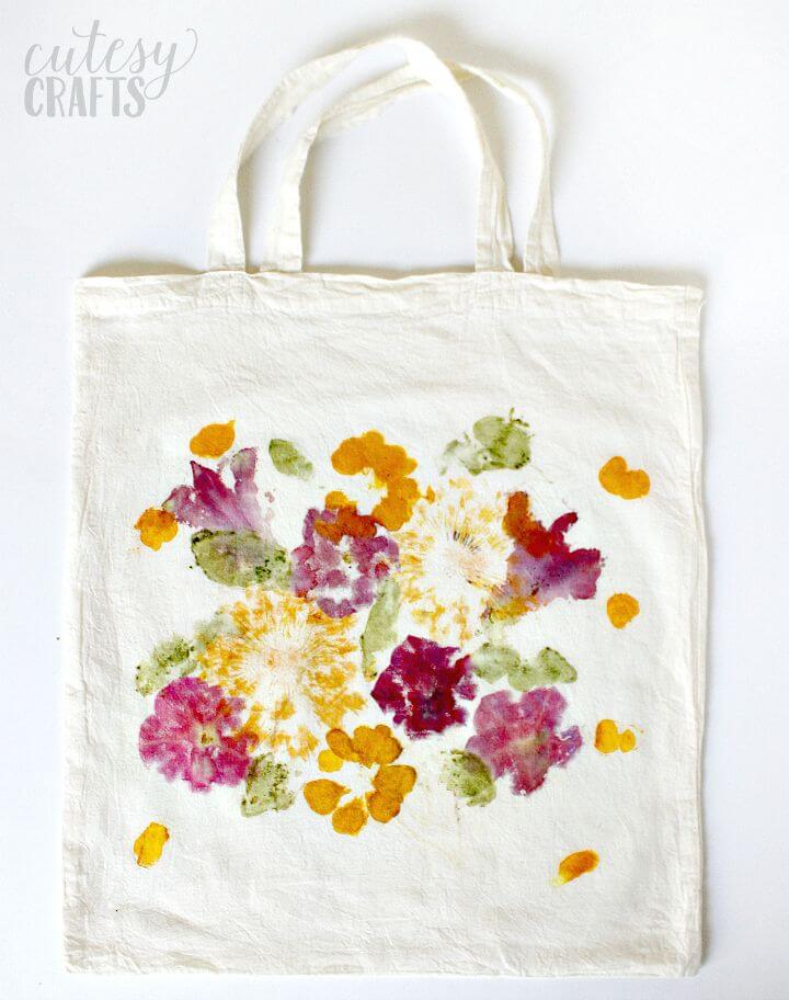50 Create A Pounded Flower Tote Mothers Day Gift