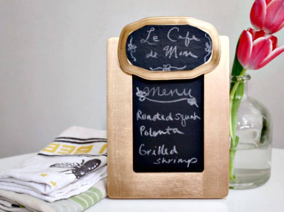 52 DIY Fancy Chalkboard Menu Board