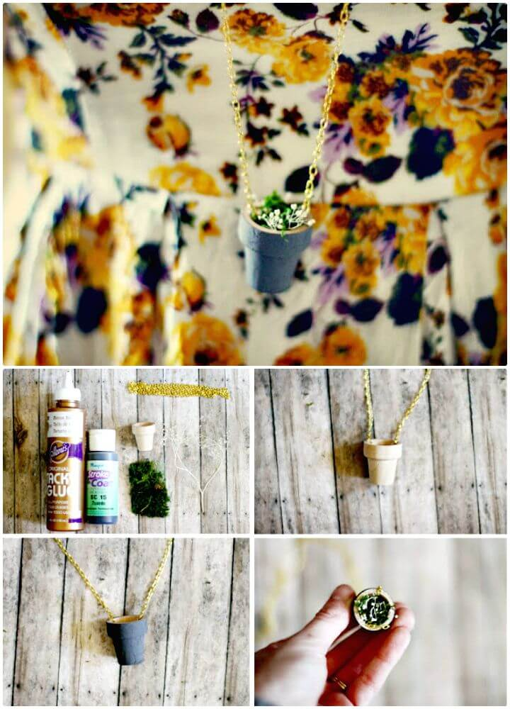 53 Cute DIY Planting Pot Necklace