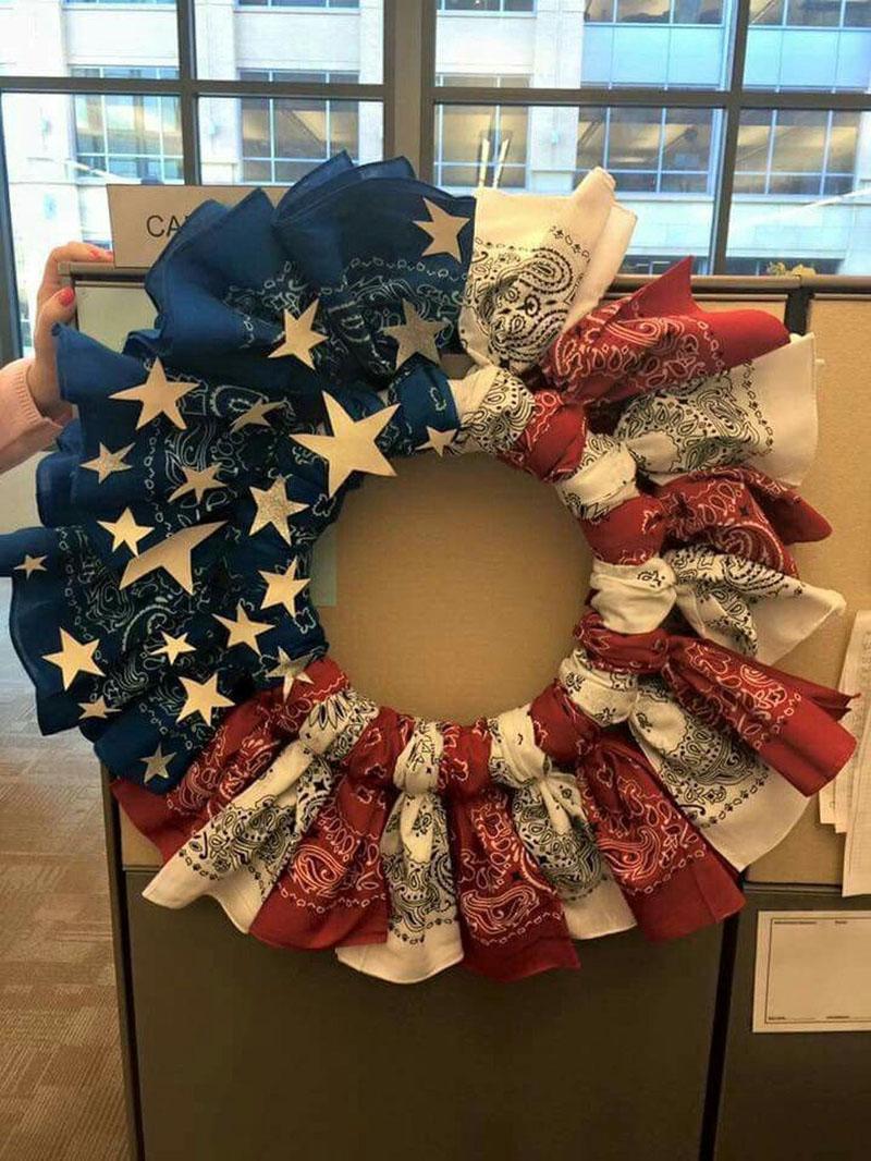 54 DIY Patriotic Wreaths