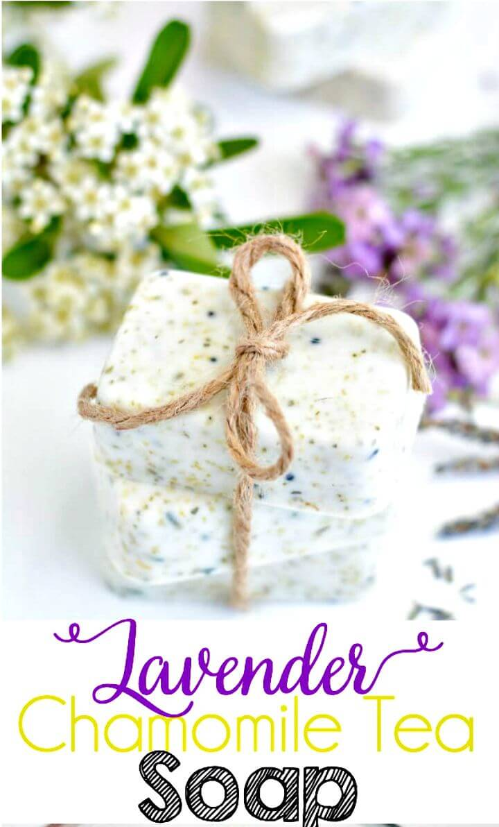 56 Adorable DIY Lavender Chamomile Tea Soap