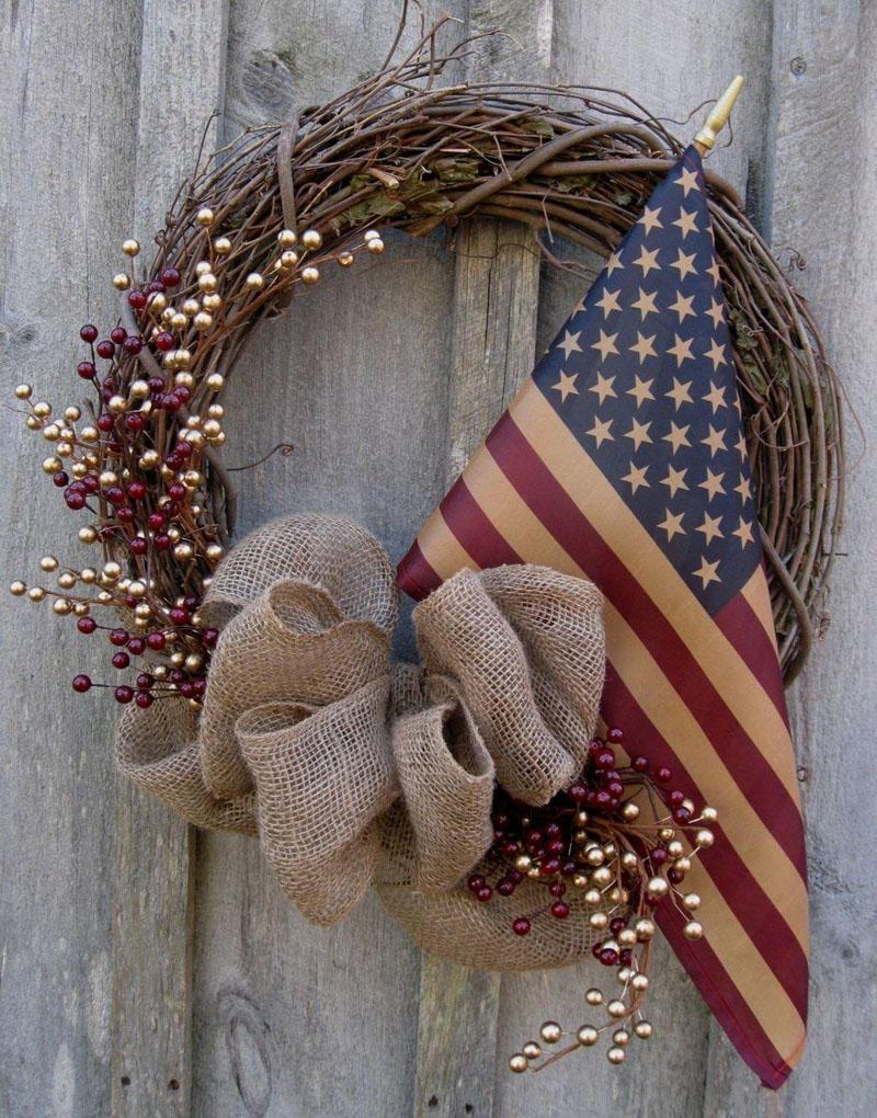 59 DIY Patriotic Wreaths